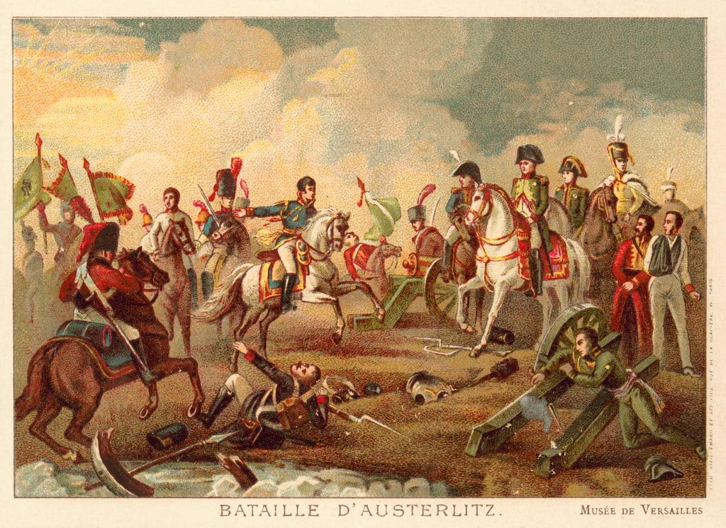 Bataille d'Austerlitz, 1805 (chromolitho)...