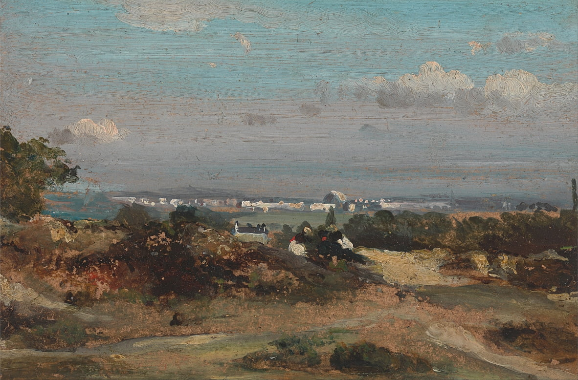 Une vue à Suffolk - George Frederick Watts