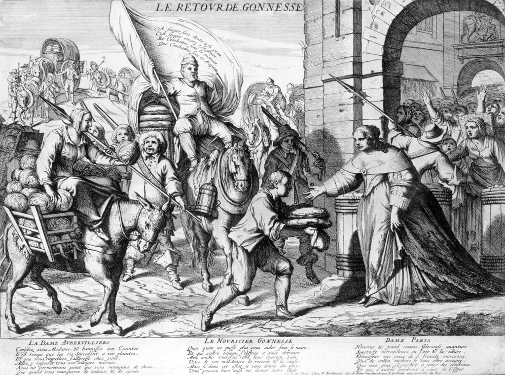 Le Retour de Gonnesse, April 1649  - French School