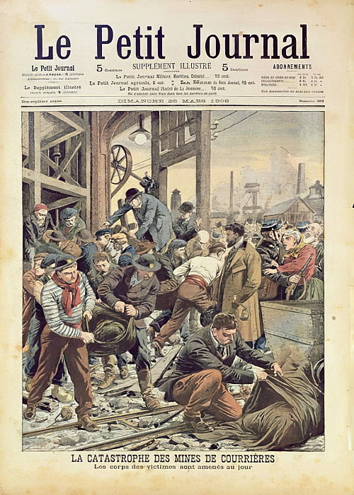 La Catastrophe à Courrières, du Petit Journal, 25 mars 1906 - French School