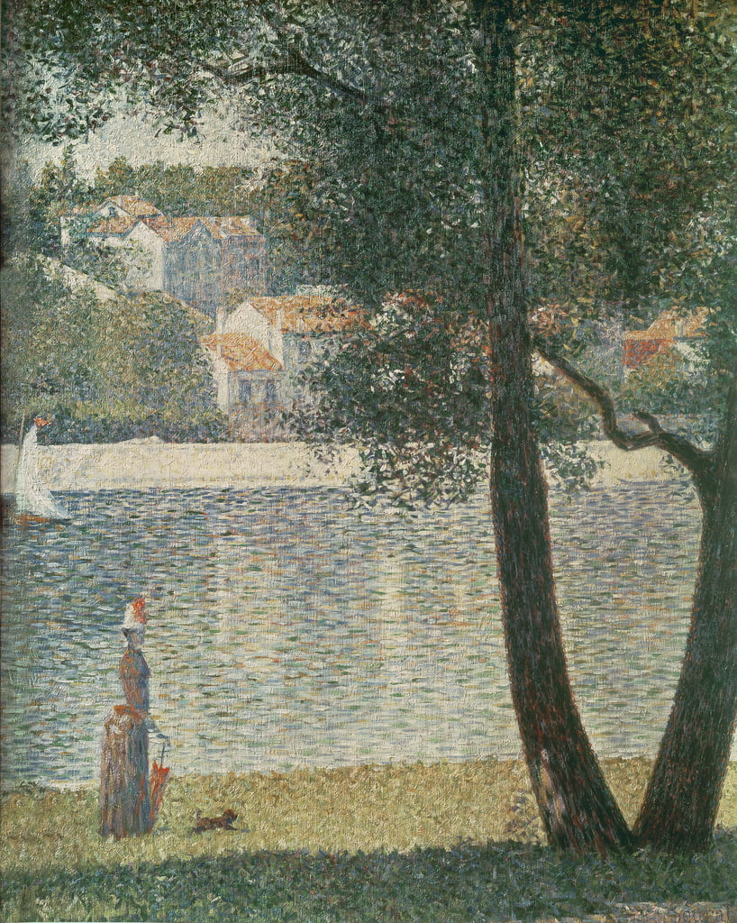 The Seine at Courbevoie, 1885  - Georges Seurat
