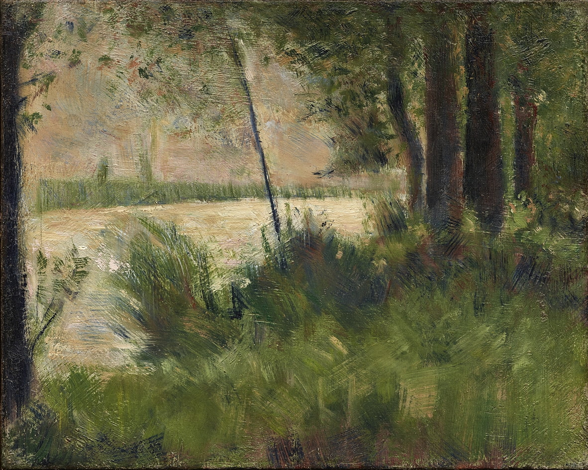 Grassy Riverbank - Georges Seurat