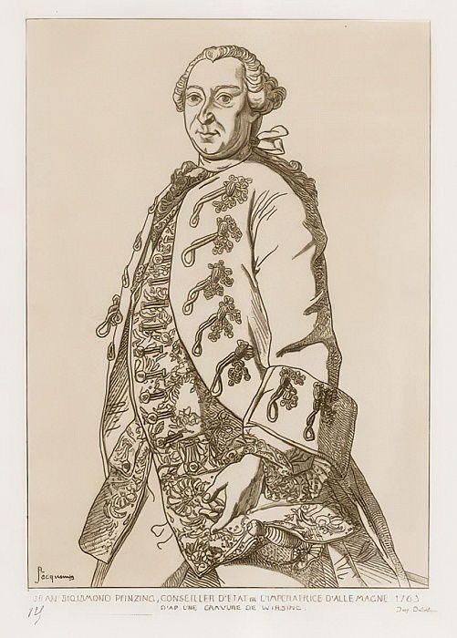 John Sigismund Pfinzing, conseiller d&39;Etat de l&39;Empress of Germany, 1763 - German School