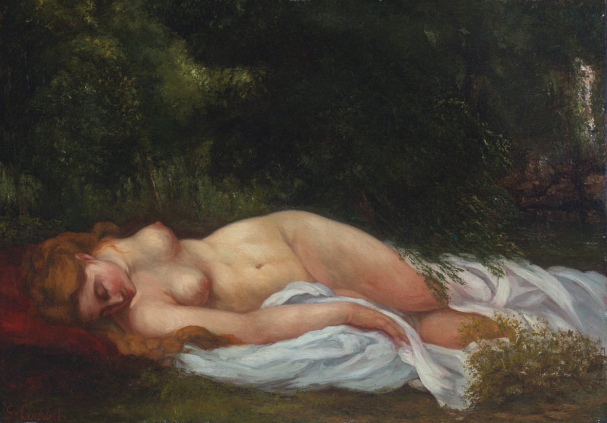 Nu Couché - Gustave Courbet