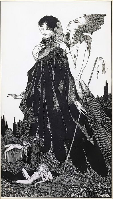Illustration de 'Selected Poems of Algernon Charles Swinburne Clarke', publié en 1928 - Harry Clarke