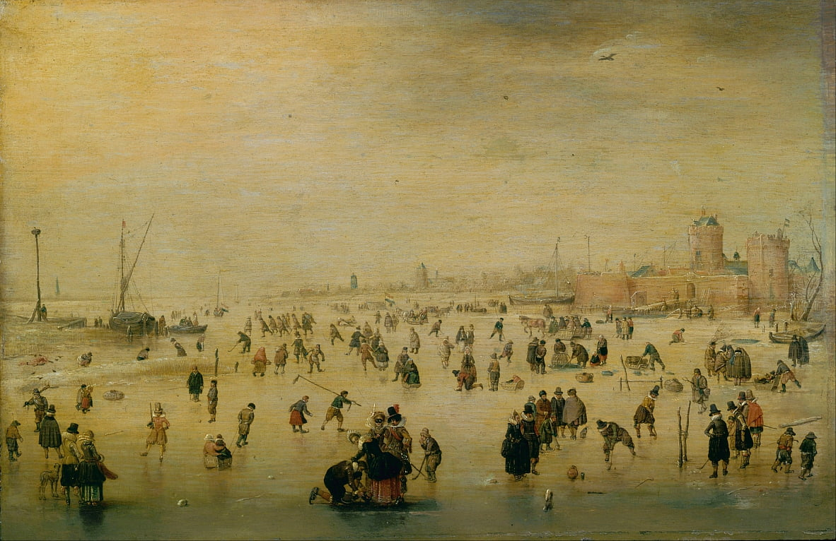 Scène de patinage - Hendrick Avercamp