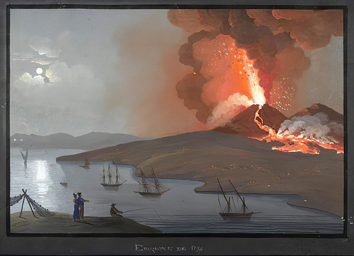 Vésuve, Eruption de 1794 - Italian School