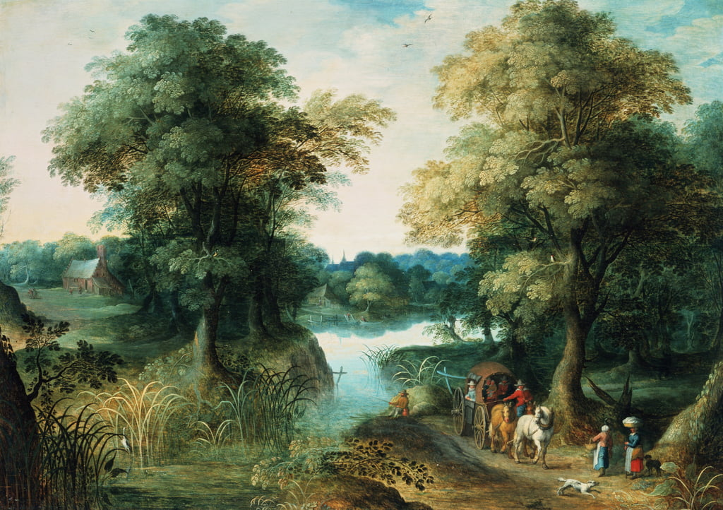 Paysage fluvial - Jan the Elder Brueghel