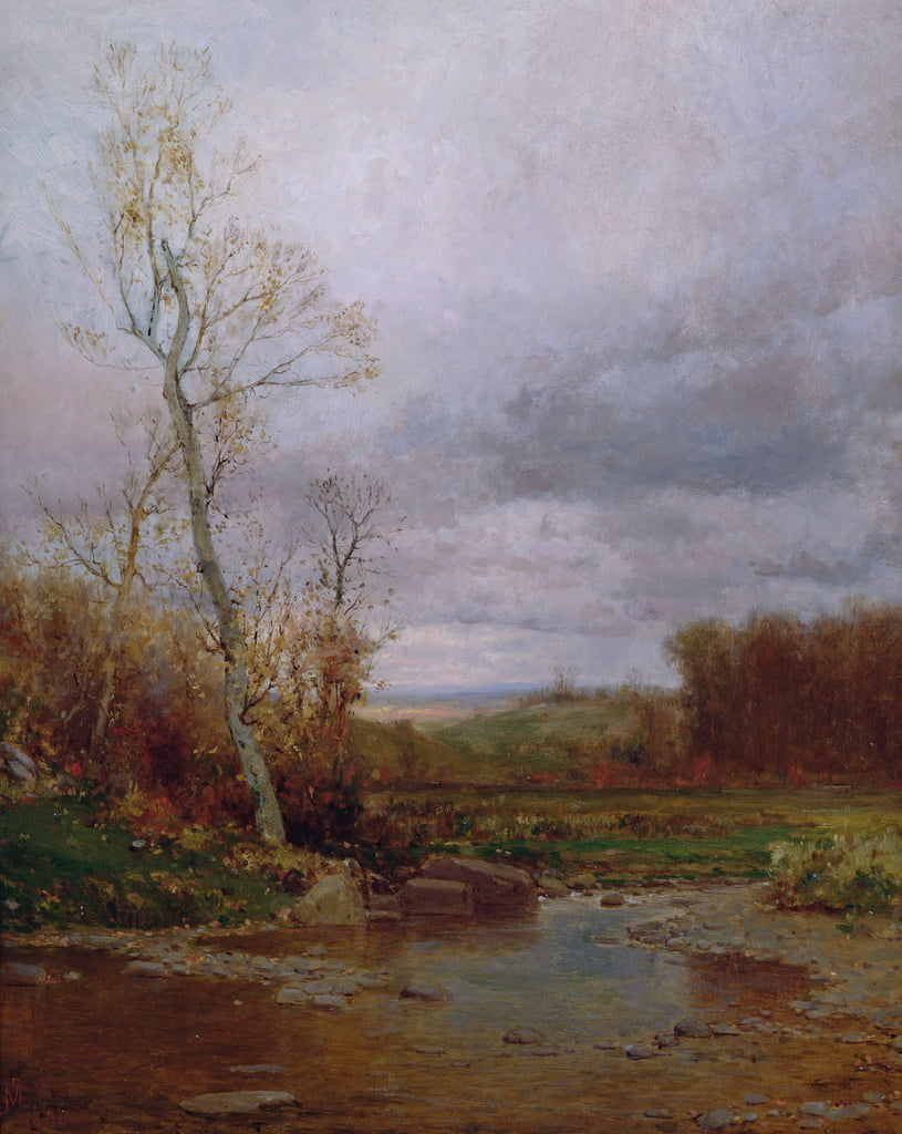 Paysage fluvial, 1880 - Jervis McEntee