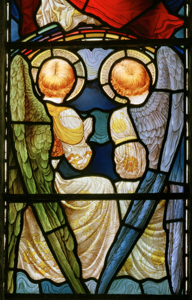 Anges, Te Deum, fenêtre est, c.1888 - John William Brown