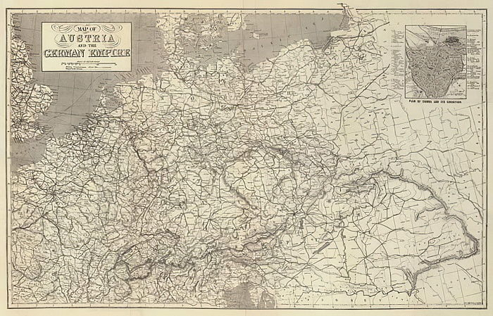 Carte de l&39;Autriche et de l&39;Empire allemand - John Dower