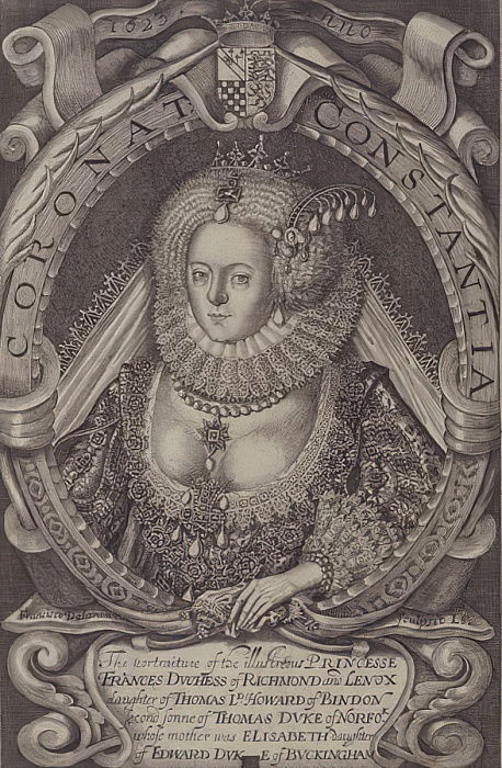 Frances, Duchesse de Richmond (1578-1639) de Generall Historie of Virginia, 1624 - John Smith