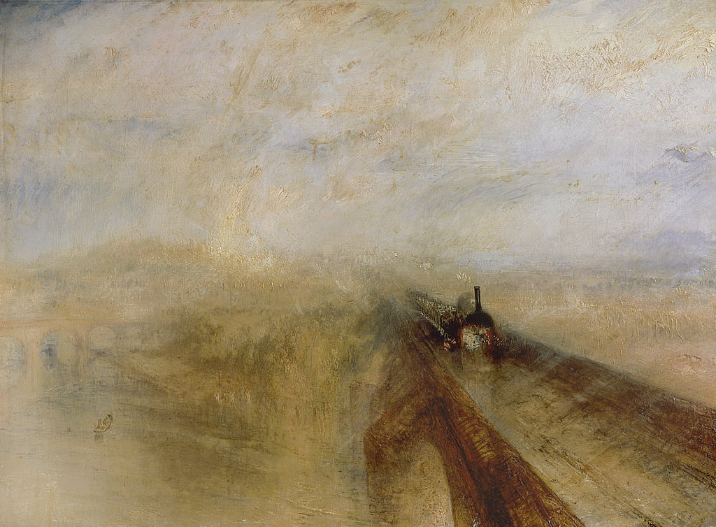 La vapeur de pluie et la vitesse, le Great Western Railway - Joseph Mallord William Turner