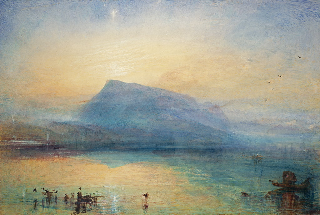 Le Rigi bleu: lac de Lucerne - Sunrise, 1842 - Joseph Mallord William Turner