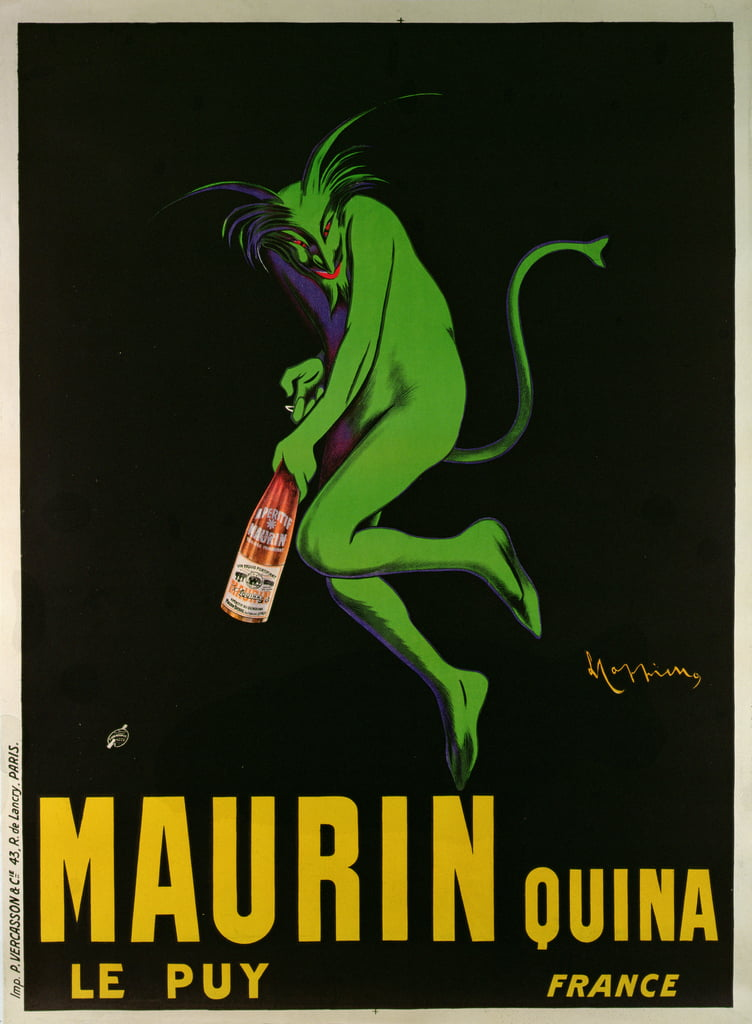 Poster advertising Maurin Quina, Le Puy, France  - Leonetto Cappiello