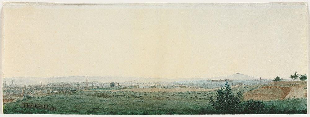 Paysage près de Paris, v. 1860. - Léon Bonvin
