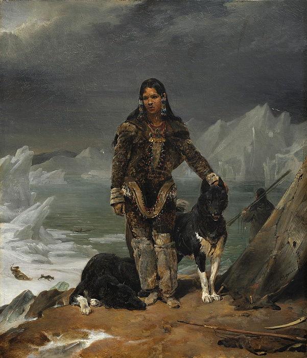 Ca s'est passé en août ! Lon_Cogniet_-_A_Woman_from_the_Land_of_Eskimos_1826_-_(MeisterDrucke-714326)