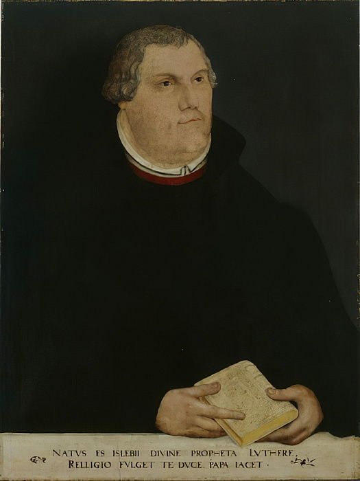 Portrait de Martin Luther, 1568 - Lucas Cranach the Younger