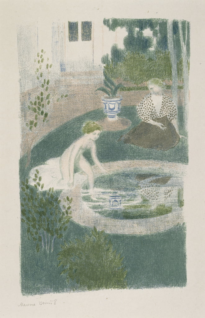 Le Reflet dans la fontaine (Reflection in the Fountain), 1897 (lithograph in colours) - Maurice Denis
