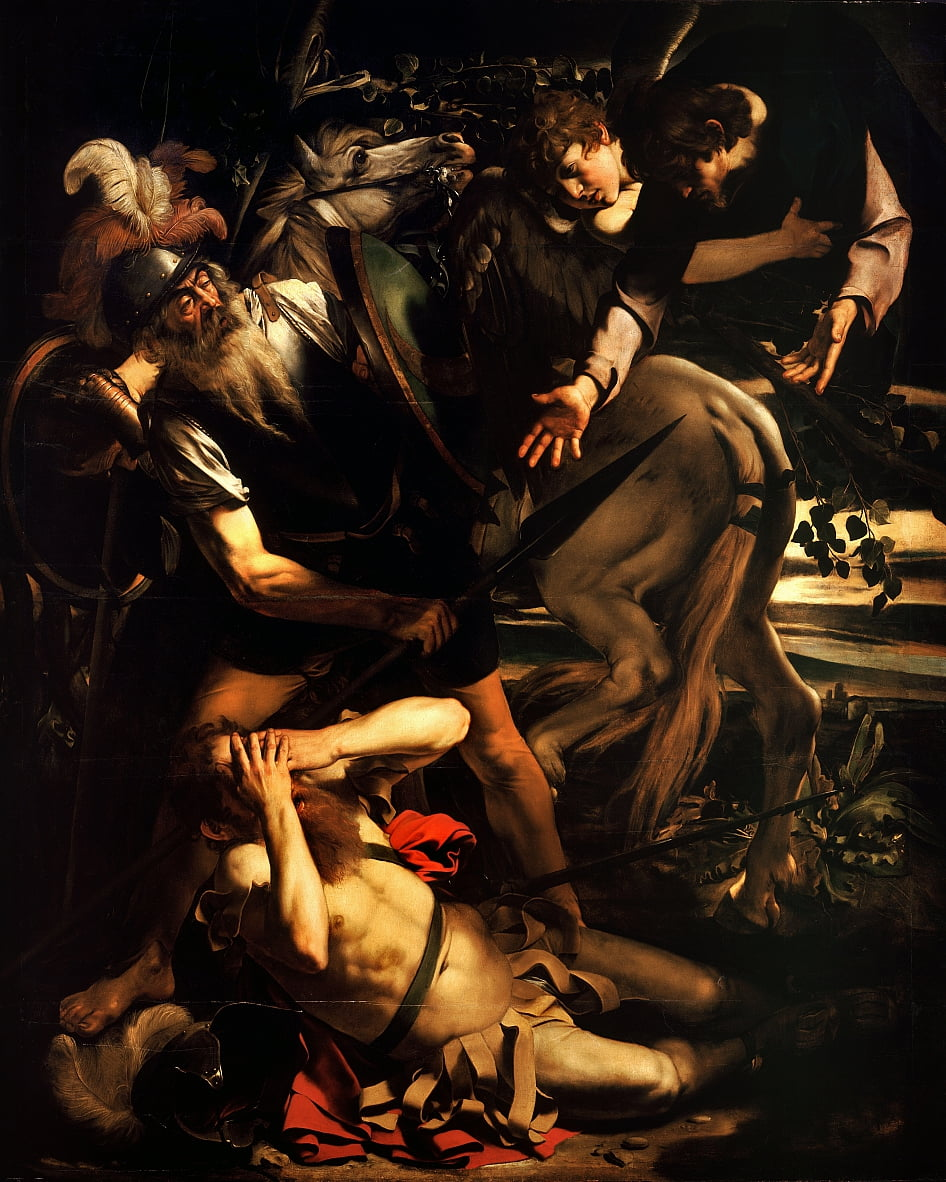 La conversion de Saint Paul - Michelangelo Merisi Caravaggio