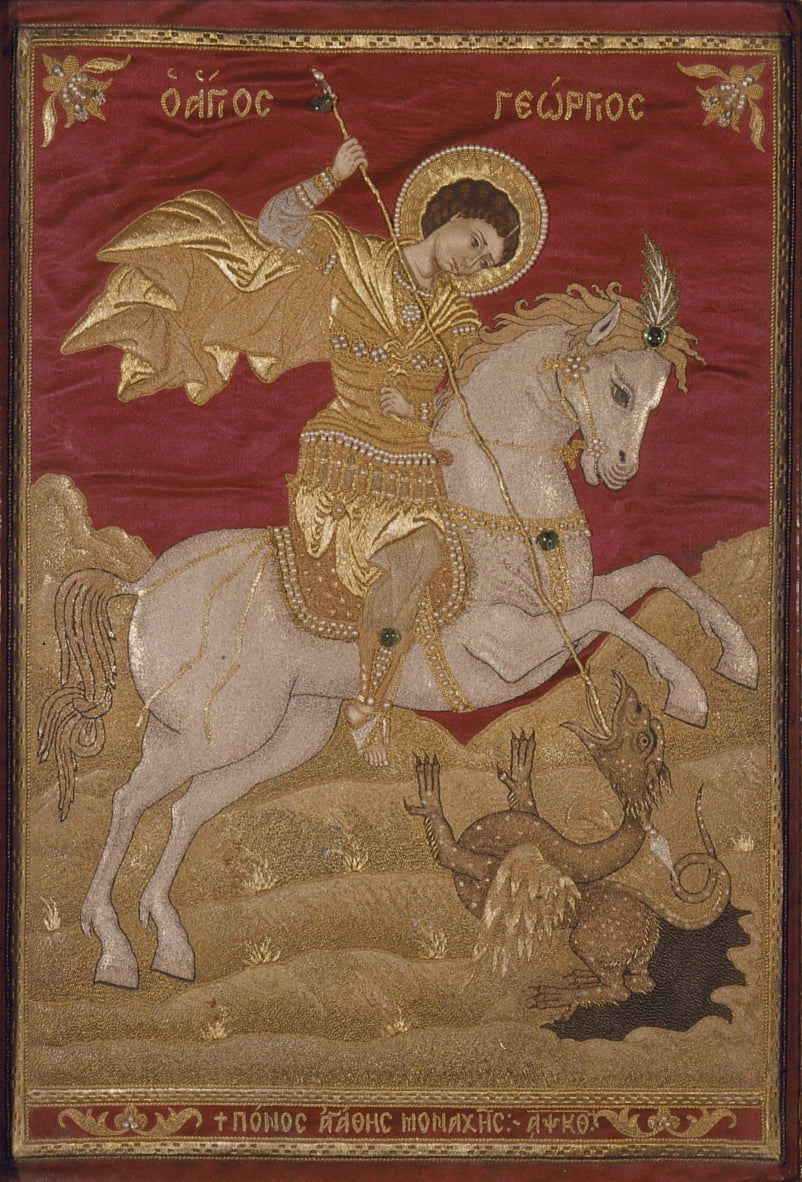 St George the dragon-slayer - Nun Agathe