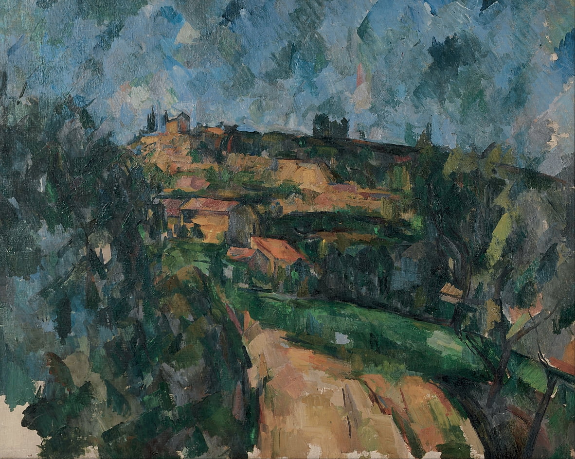 Bend Of The Road Au Haut Du Chemin Des Lauves - Paul Cézanne