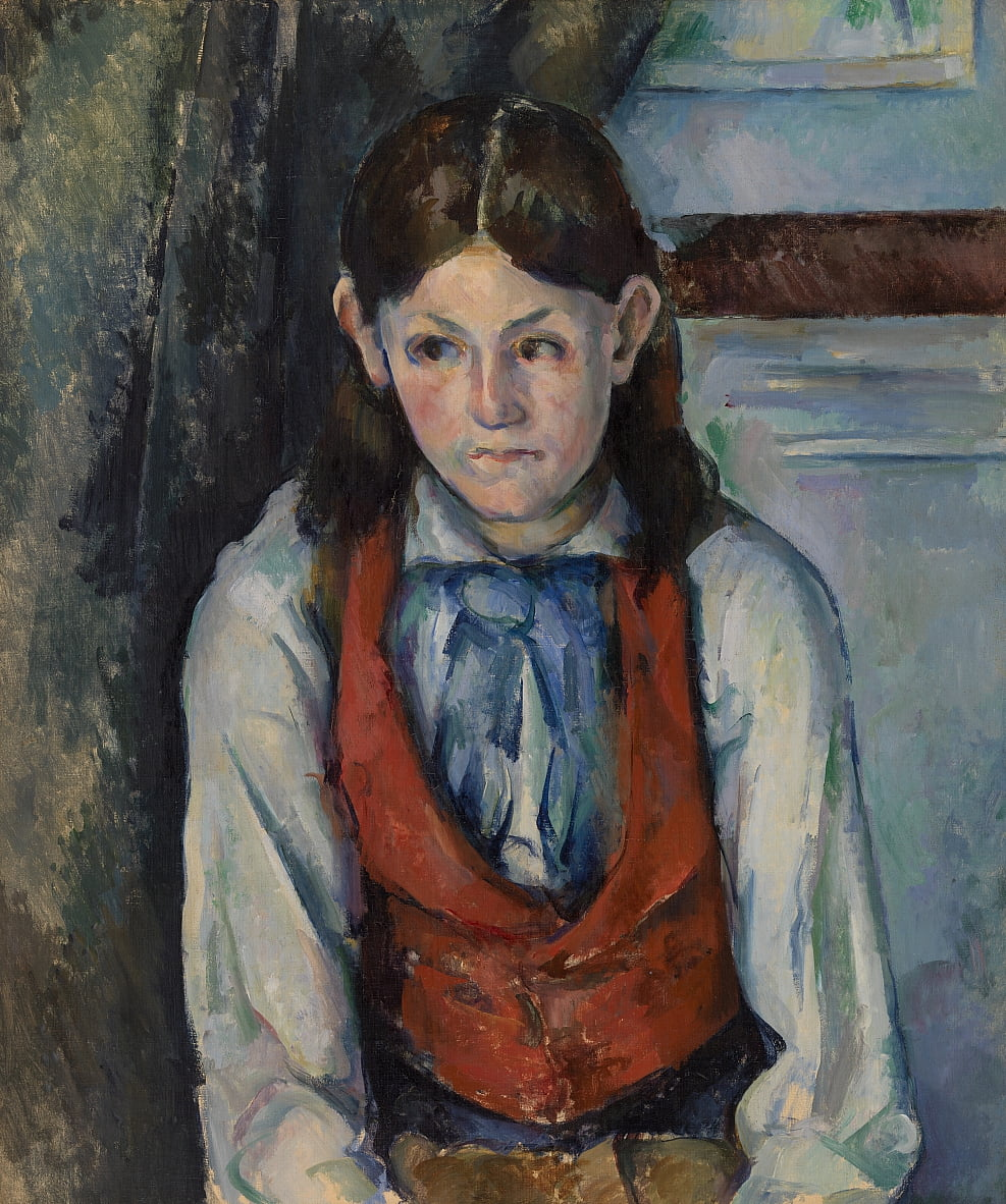 Boy in a Red Vest (Le Garçon au gilet rouge) - Paul Cézanne