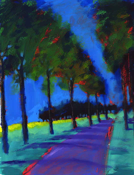Avenue, 2008 (acrylique à bord) - Paul Powis