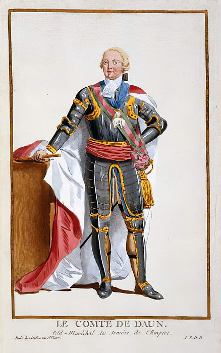 Count de Daun, General of Armies of the Holy Roman Empire (1705-66) from Receuil des Estampes, representant les Rangs et les Dignites, suivant le Costume de toutes les Nations existantes, published 1 - Pierre Duflos