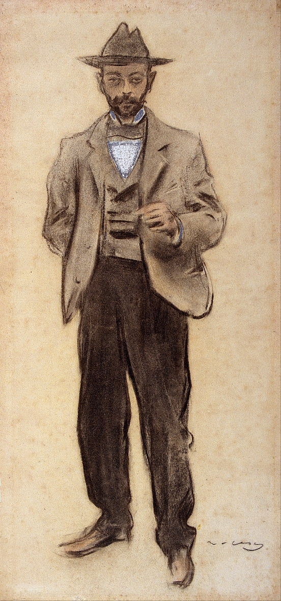 Portrait de Manolo Hugué - Ramon Casas i Carbo