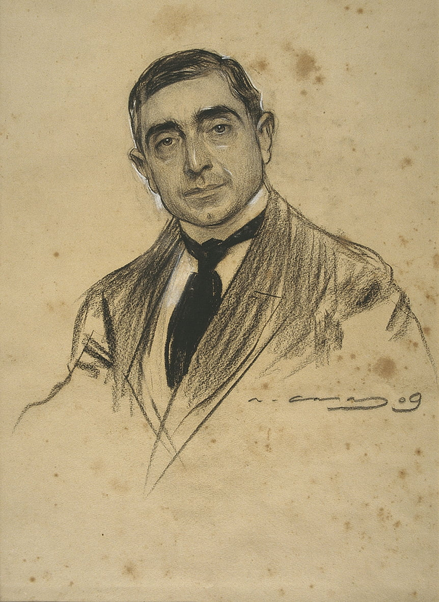 Portrait by Ramon Casas - Ramon Casas i Carbo
