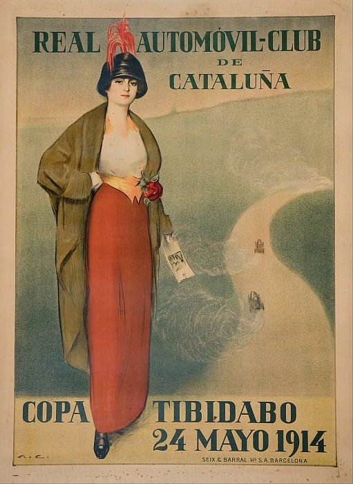 Affiche du Royal Automobile Club of Catalonia - Ramon Casas i Carbo