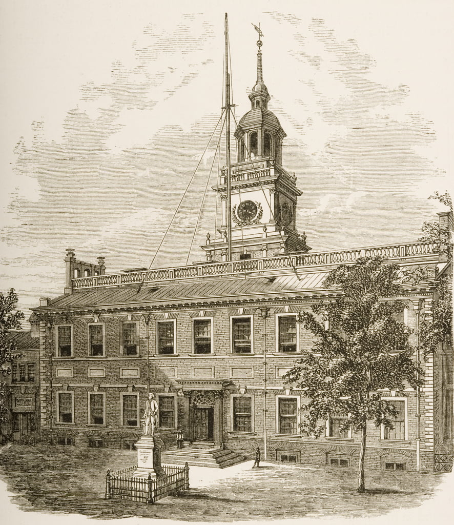 County Court House ou, Independence Hall, Philadelphie Pennsylvanie, v.1880 - Reverend Samuel Manning