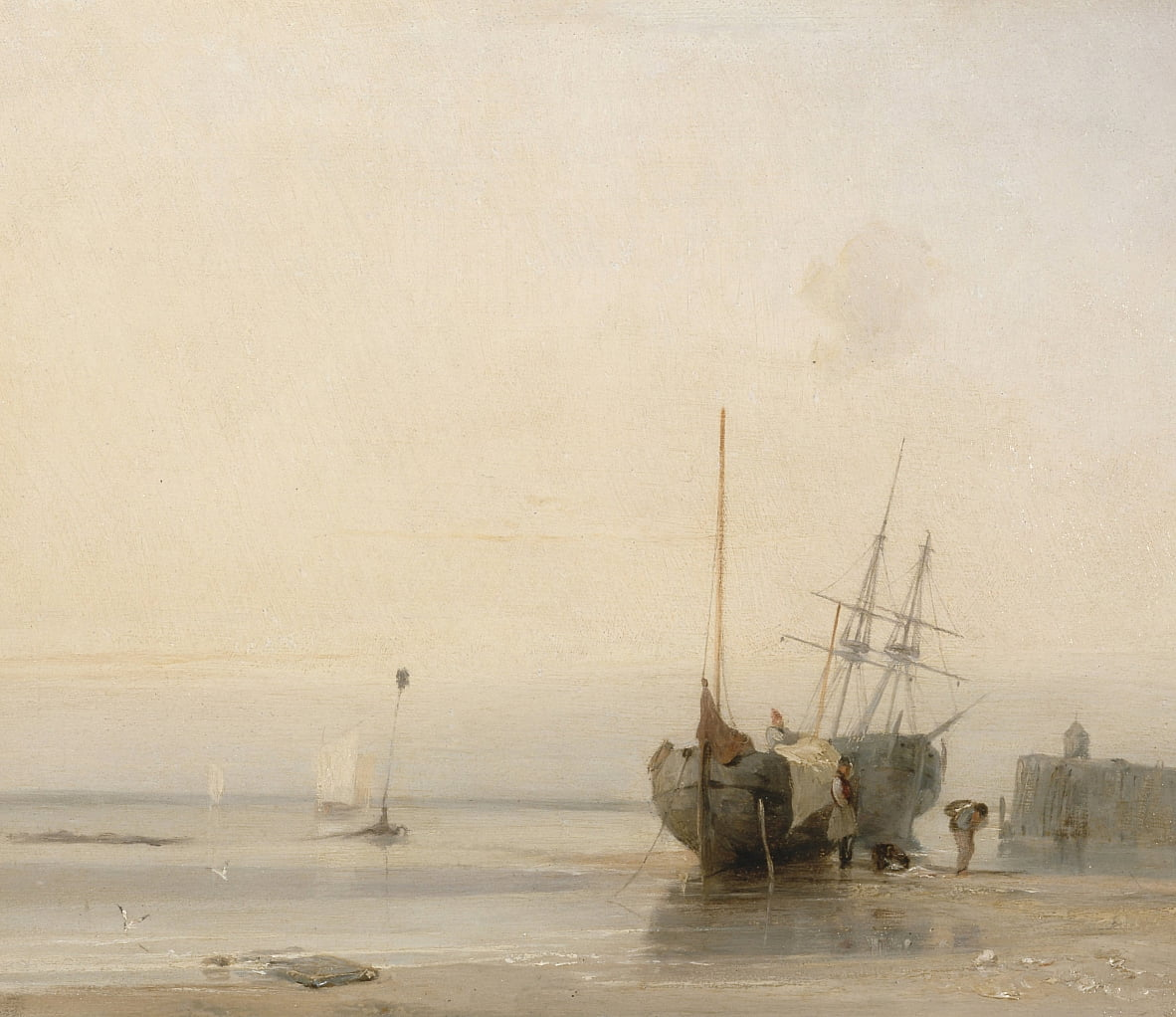 Calais Jetty, France - Richard Parkes Bonington