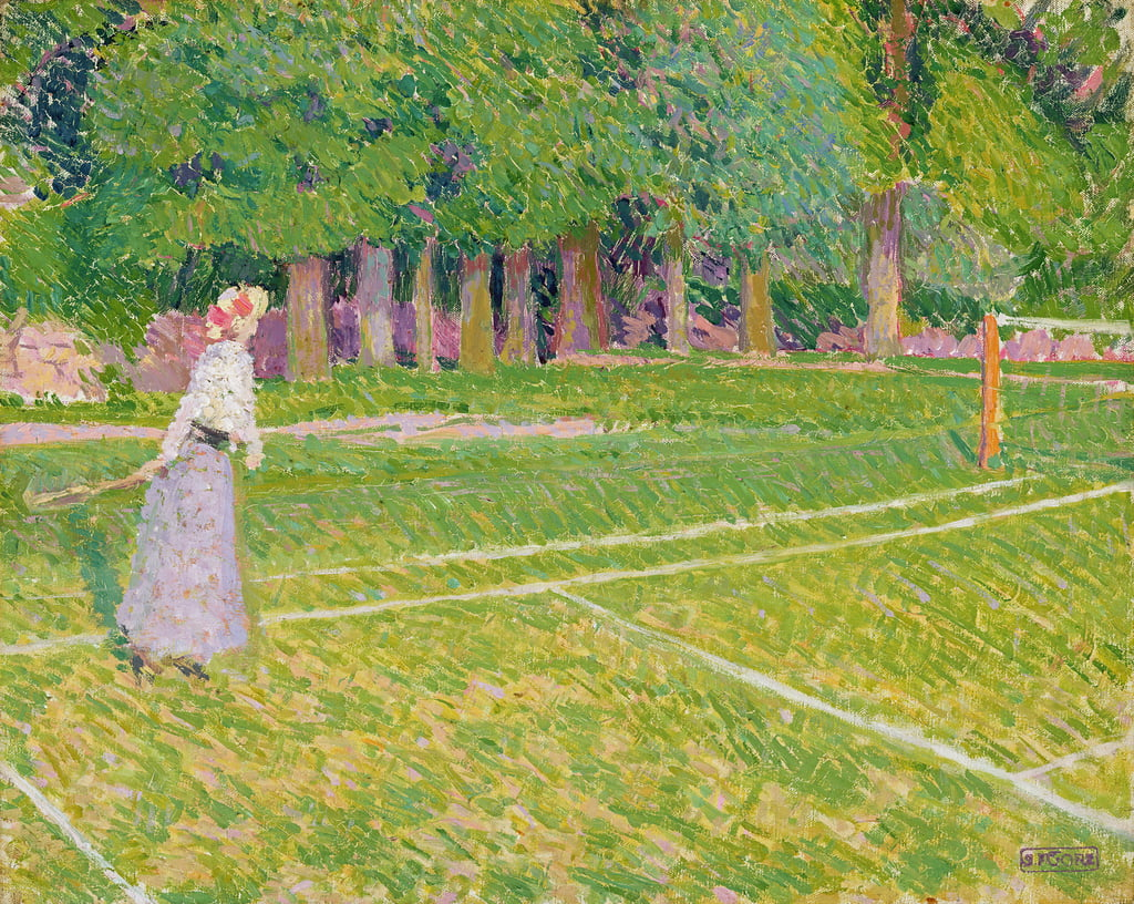 Tennis à Hertingfordbury, 1910 - Spencer Frederick Gore