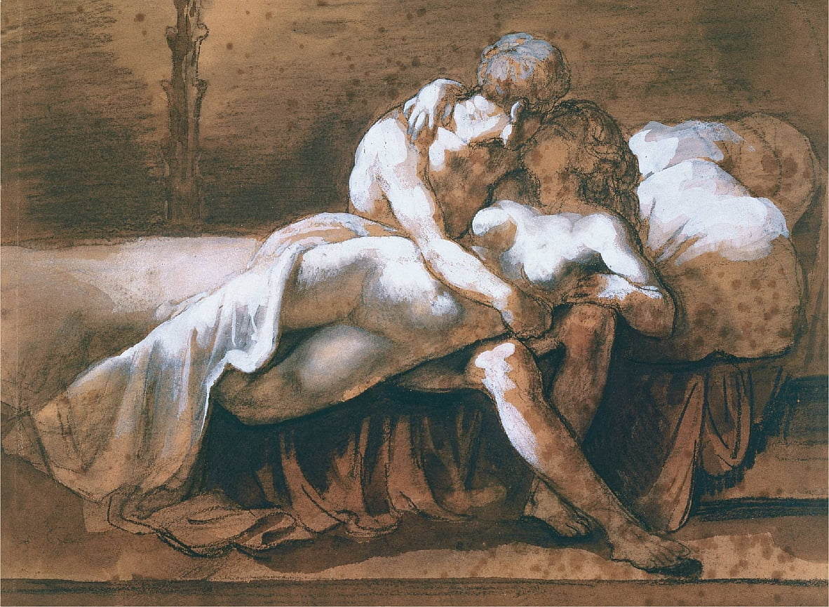 Le bisou - Theodore Gericault