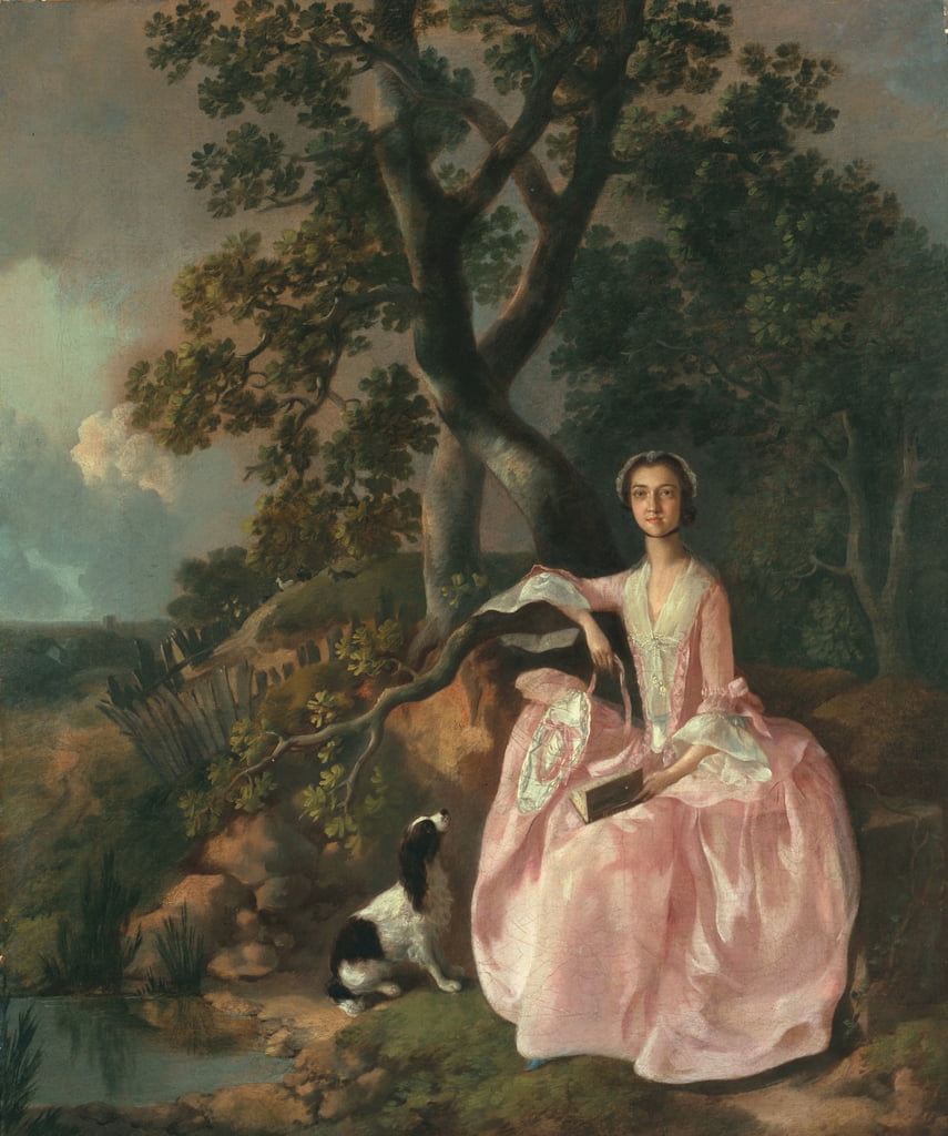 Femme avec un épagneul, c.1749 - Thomas Gainsborough