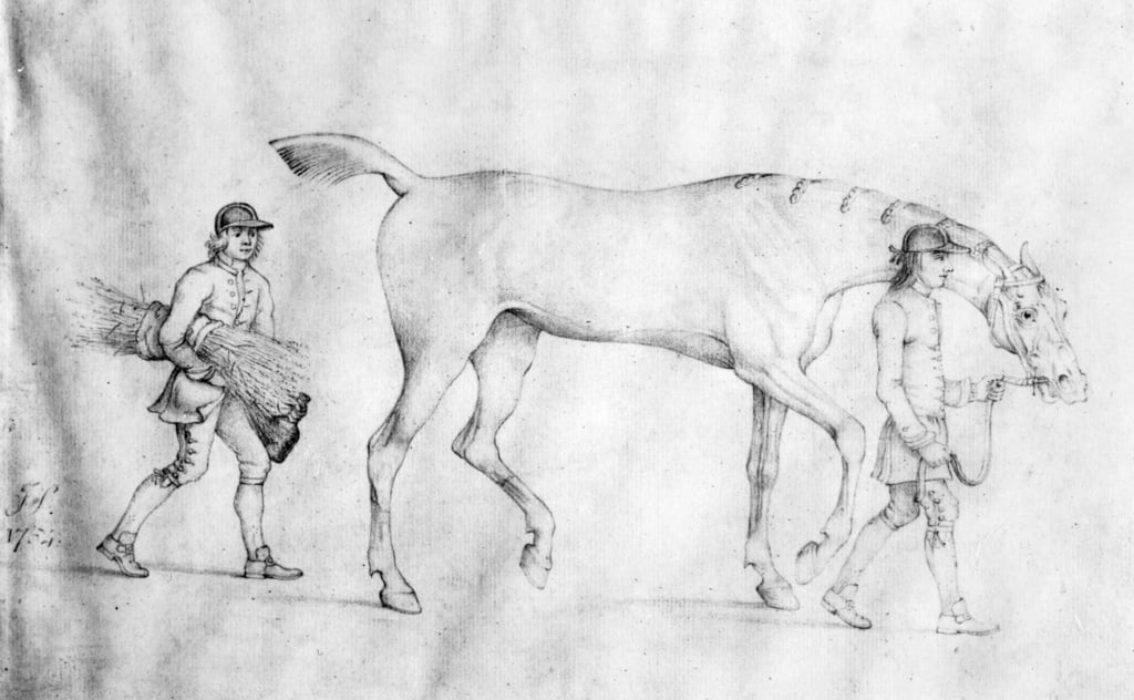 Cheval et palefreniers, 1754 - Thomas Spencer