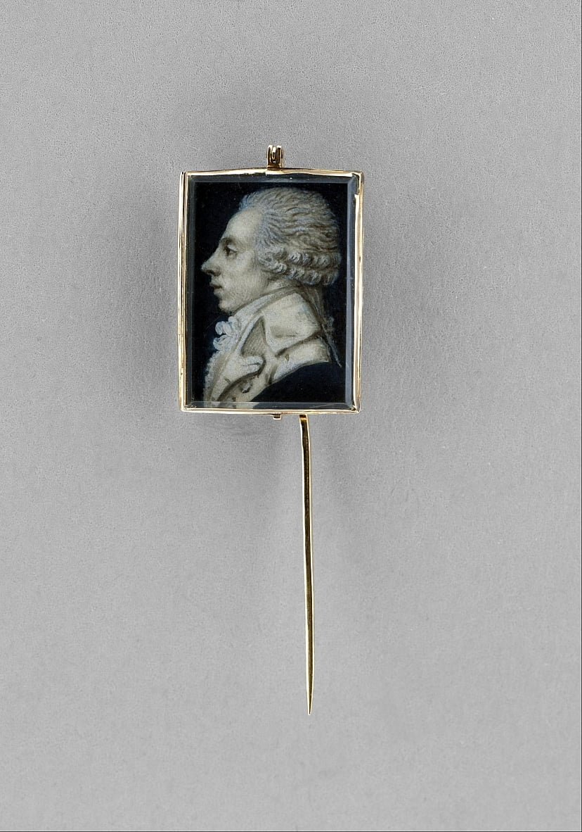 Unknown French - Stickpin avec Portrait d
