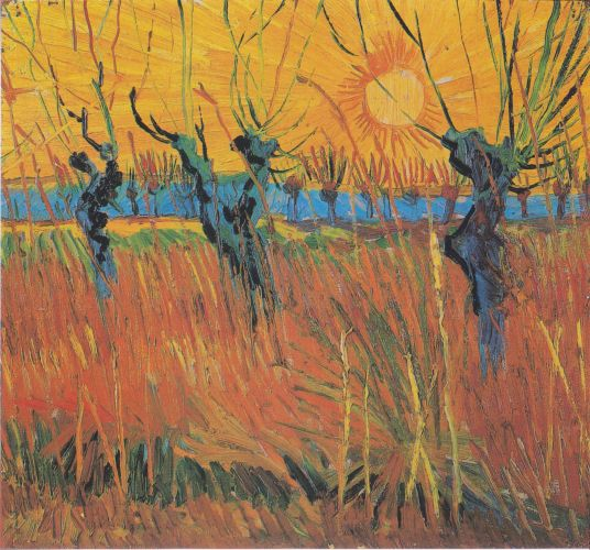 Willows au coucher du soleil - Vincent van Gogh