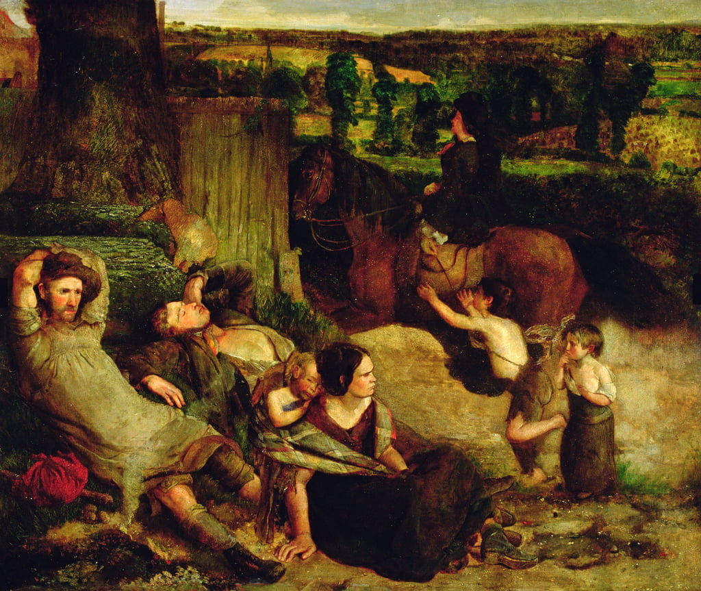 Les vagabonds irlandais, c.1853-54 - Walter Howell Deverell