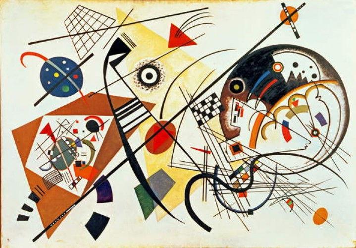 Lignes d'intersection, 1923 de Wassily Kandinsky