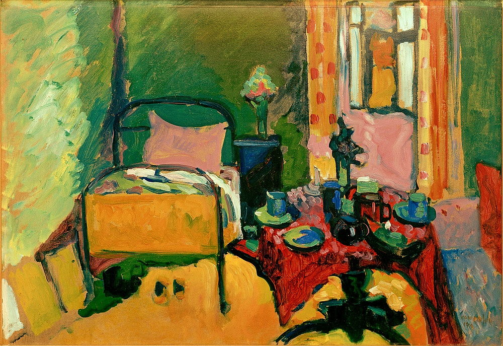 Chambre à coucher dans Ainmillerstrasse - Wassily Kandinsky