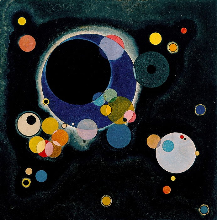 Plusieurs cercles, 1926 - Wassily Kandinsky