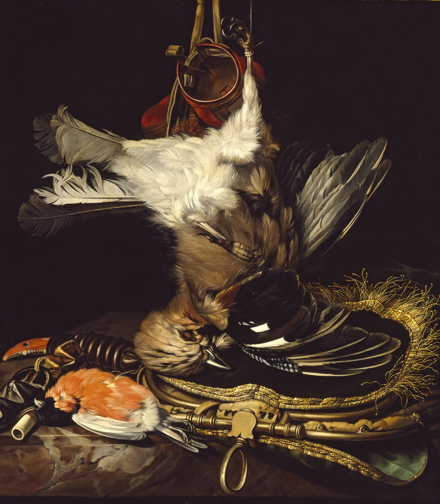 Nature morte avec un geai mort - Willem van Aelst