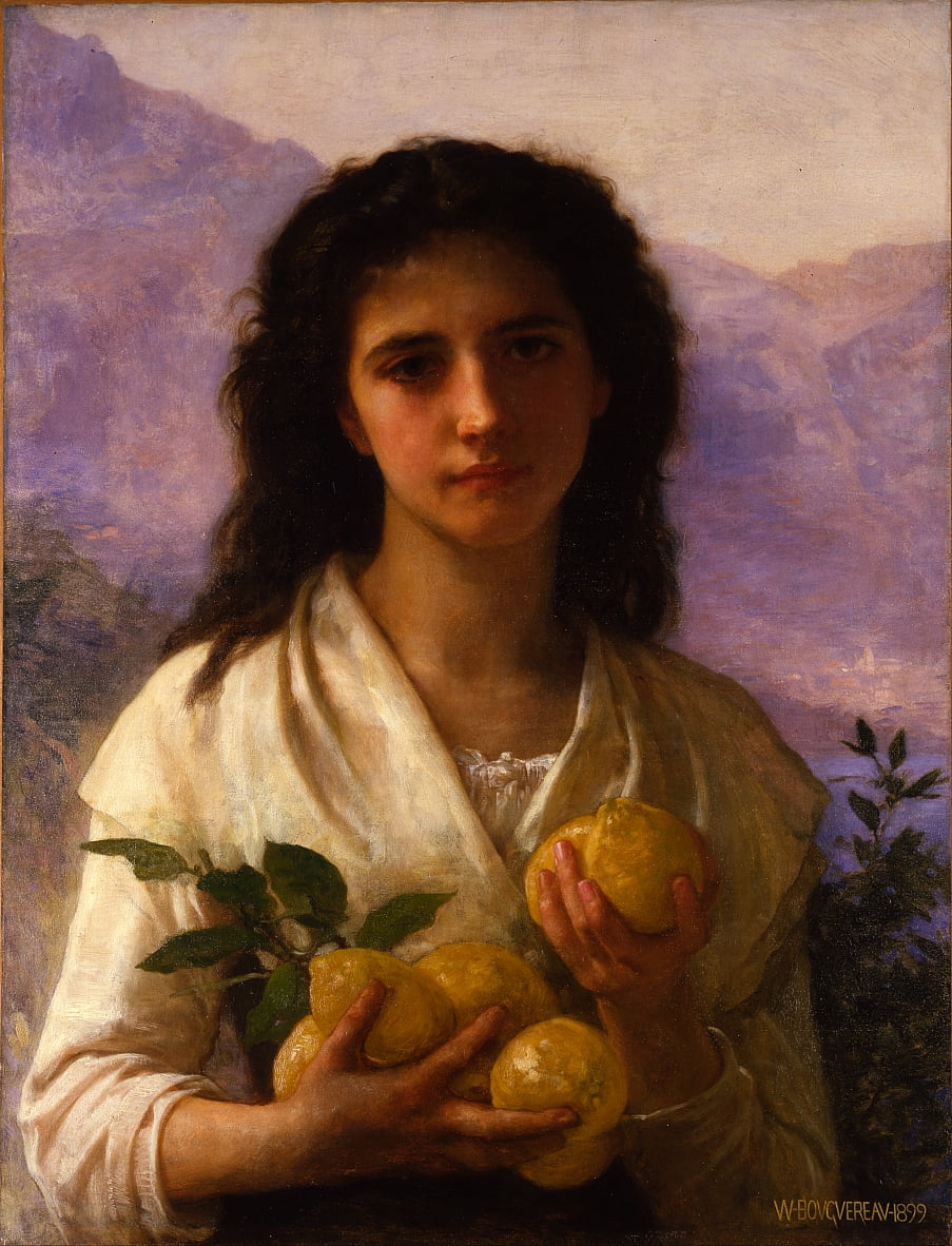 Fille tenant des citrons - William Adolphe Bouguereau
