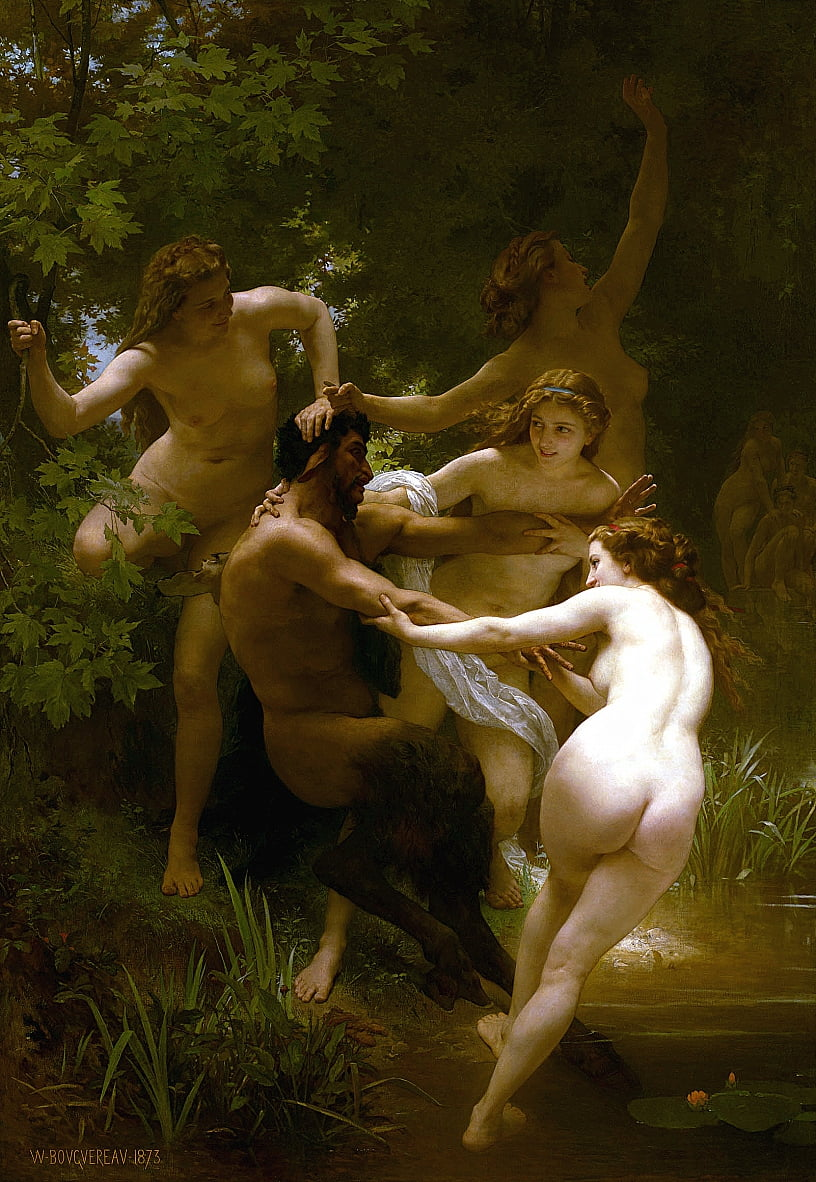 Nymphes et Satyre - William Adolphe Bouguereau