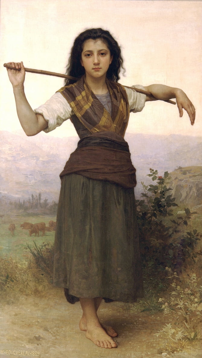 La bergère - William Adolphe Bouguereau