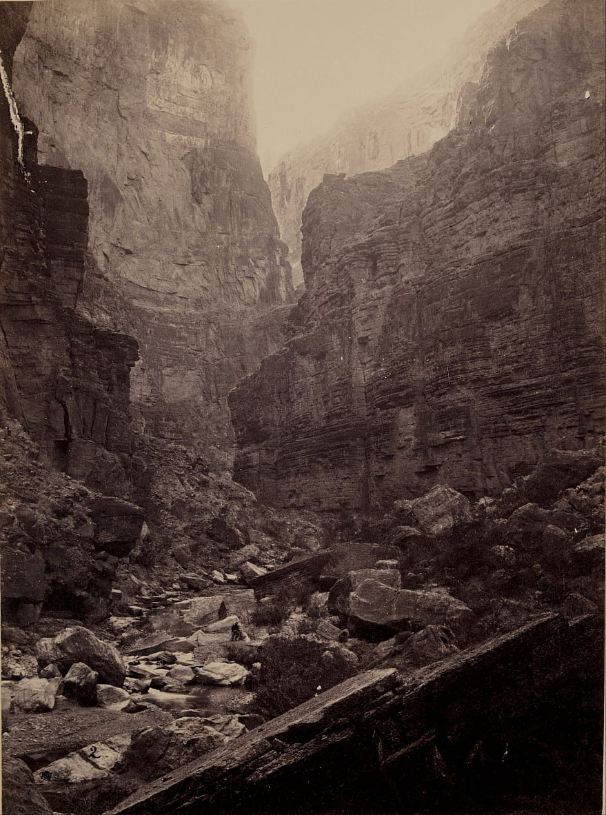 Cañon de Kanab Wash, Colorado River, Looking North - William H. Bell