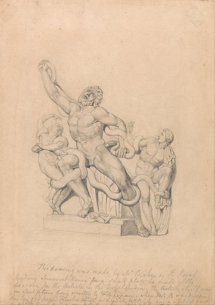 Copie du Laocoon, pour Reess Cyclopædia - William Blake